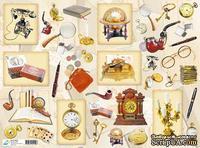 """Декупажная карта """"Джентльменские предметы"""", размер: 29,5х40 см"""