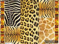 "Декупажная карта ""Шкуры африканских животных"", размер: 29,5х40 см"