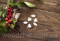Чипборд Набор кленовые и дубовые листья от WOODchic,  2.5 на 2.5см