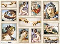 "Декупажная карта ""Микеланжело"", размер: 29,5х40 см"