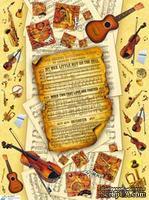"""Декупажная карта """"Симфония"""", размер: 29,5х40 см"""