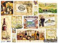 "Декупажная карта ""Вино"", размер: 29,5х40 см"