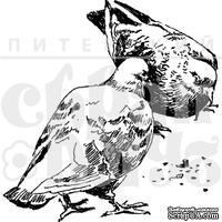 """Акриловые штампы дизайна Елены Виноградовой """"Клюющие голуби"""""""