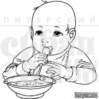 """Акриловый штамп дизайна Елены Виноградовой """"Малыш за едой"""""""