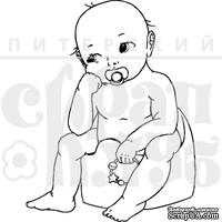 """Акриловый штамп дизайна Елены Виноградовой """"Малыш в раздумьях"""""""