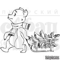 Штамп от Питерского скрапклуба - Мишка С Елочкой