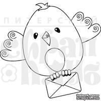 """Акриловый штамп """"Птиц с письмом"""" (птицы)"""