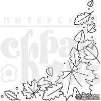 """Акриловый штамп """"Уголок с листьями"""" (грибы)"""