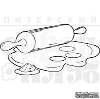 Штамп от Питерского скрапклуба - Скалочка С Тестом