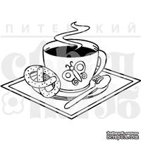 Штамп от Питерского скрапклуба - Кофе С Крендельком