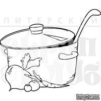 Штамп от Питерского скрапклуба - Кастрюлька Супа