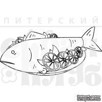 Штамп от Питерского скрапклуба - Рыба С Лимоном