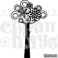 Штамп от Питерского скрапклуба - Зимнее Дерево