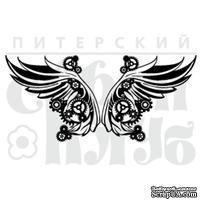 Штамп от Питерского Скрапклуба - Стимпанк. Крылья Бол., 8х3.6 см