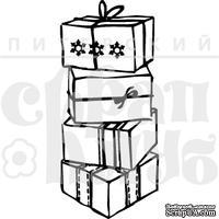 """Акриловый штамп """"Коробки с подарками"""""""