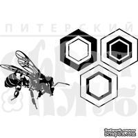 Штамп от Питерского скрапклуба - Соты С Пчелкой