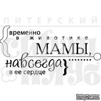 """Акриловый штамп """"В животике мамы (моя семья)"""""""