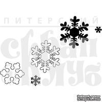 Акриловый штамп ''Набор снежинок''
