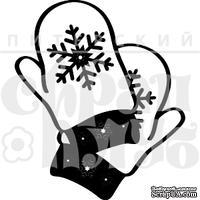 Штамп от Питерского Скрапклуба - Рукавички (Снег)
