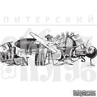 Штамп от Питерского Скрапклуба - Бордюр Жажда Открытий (Мужской Клуб)