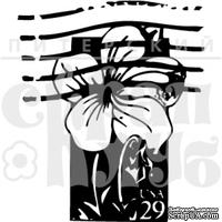 Акриловый штамп ''Марка с цветком''
