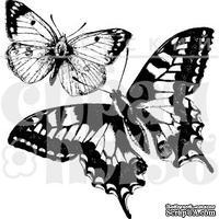 """Прозрачный фотополимерный штамп для скрапбукинга от ПСК """"Две бабочки"""""""
