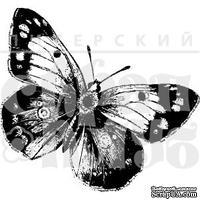 """Прозрачный фотополимерный штамп для скрапбукинга от ПСК """"Бабочка 1"""""""