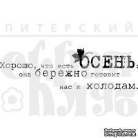 "Акриловый штамп ""Холод"" (краски осени)"