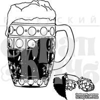 Штамп от Питерского Скрапклуба - Чехия. Пиво И Хмель, 4х4.5 см