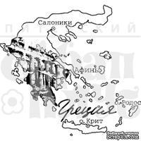 Штамп от Питерского Скрапклуба - Греция, 7х6.5 см