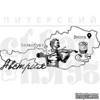 Штамп от Питерского Скрапклуба - Австрия, 8х3.8 см