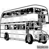 Штамп от Питерского Скрапклуба - Англия. Автобус, 4.5х3.6 см