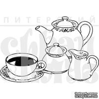 Штамп от Питерского Скрапклуба - Англия. Чай 5 O'Clock, 5х3 см