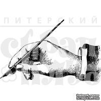 """Акриловый штамп """"Рука с пером"""" - ScrapUA.com"""