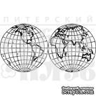 Штамп от Питерского Скрапклуба - Карта Мира - ScrapUA.com