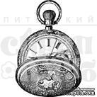 Штамп от Питерского Скрапклуба - Часы С Секундомером