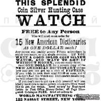 Акриловый штамп ''Реклама часов  (эфемеры)'' - ScrapUA.com