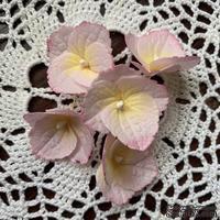 Гортензии из фоамирана с лепестками с зубчатым краем,  диаметр 35 мм, цвет розовый, 5 шт.
