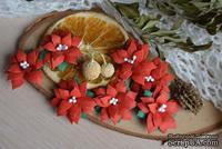 Набор цветов от WOODchic - Пуансеттия 102  от WOODchic