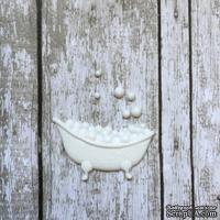 Ванна, пластиковое украшение от Е.В.A, белая, 3,5х2см