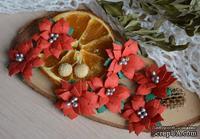 Набор цветов от WOODchic - Пуансеттия 103  от WOODchic