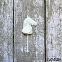 Лошадка, пластиковое украшение от Е.В.A, белая, 2х5см