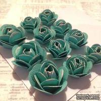 Набор бумажных роз, цвет мятный, 11шт., 2.8-1.8см