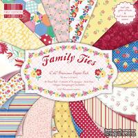 Набор бумаги для скрапбукинга First Edition -  Family Ties, 64 листа, размер 15х15 см.
