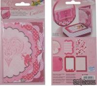 """Мини карточки отрывные от Folia - Design Paper Mini """"Catties"""", Hearts"""