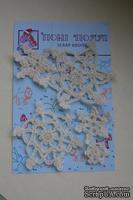 Вязаные украшения от Pony Polly - Снежинки, 5 шт.,  размер упаковки 7,5х11 см