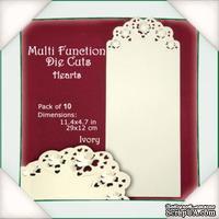 Заготовки для открытки от Flower Soft - Multi Function Die Cuts - Hearts (Ivory)