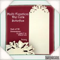 Заготовки от Flower Soft - Multi Function Die Cuts - Butterflies (Ivory)