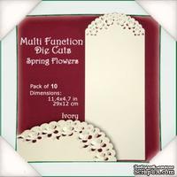 Заготовки от Flower Soft - Multi Function Die Cuts - Spring Flowers (Ivory)