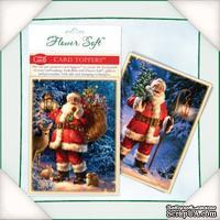 Заготовки для открытки от Flower Soft - Forest Santa, 10х15см